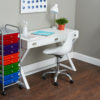ten drawer organizer in home office with flipshelf