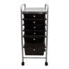 black six drawer organizer front view