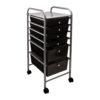 black six drawer organizer