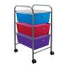 three drawer organizer with wheels