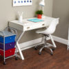 colorful 3 drawer organizer in home office