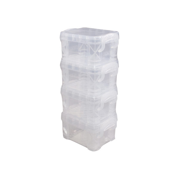 superstacker pixie box 4 pack clear