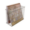 wire file basket propped
