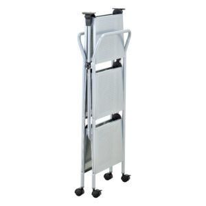 click-n-fold chrome cart folded