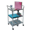 click-n-fold chrome cart with school props back view