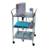 click-n-fold chrome cart with school props