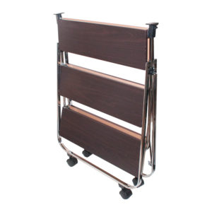 click-n-fold faux wood cart folded
