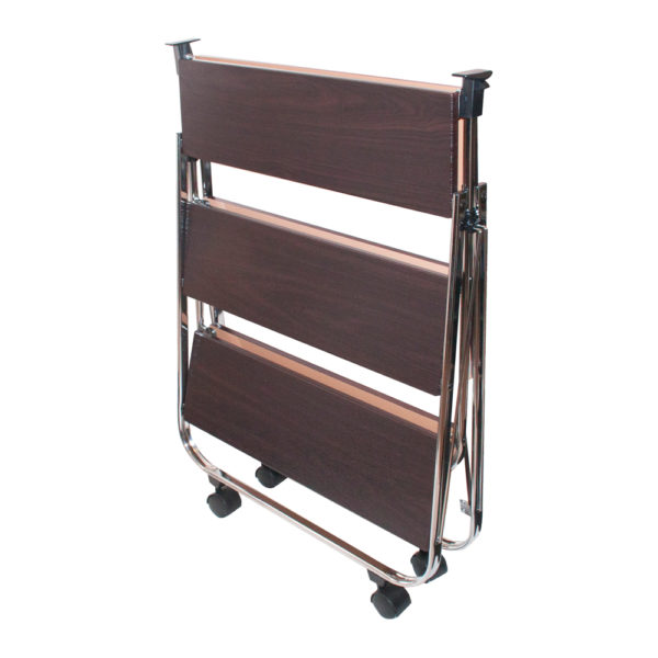 click-n-fold faux wood cart folded