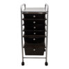 black six drawer organizer front view