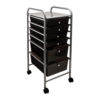 black six drawer organizer
