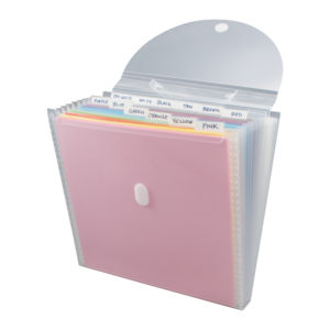 expandable paper organizer open