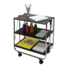 click-n-fold faux wood cart right angle